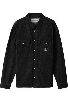 Calvin Klein Erkek Siyah Oversızed Shırt Gömlek