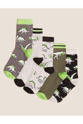 Marks & Spencer 5'li Dinozor Desenli Çorap