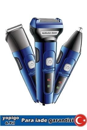Wildlebend Mavi 3in1 Erkek Bakım Seti Saç Sakal Burun Tıraş Makinesi