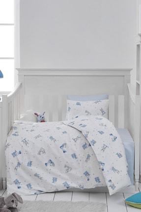 Loyal Home %100 Pamuk Bebek Nevresim Takımı Teddy Mavi