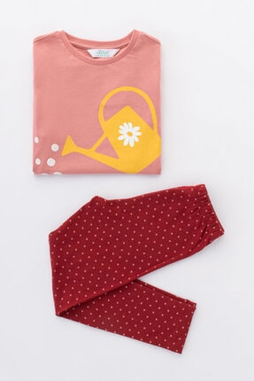 Penti Çok Renkli Kız Çocuk Watering 2li Pijama Takımı