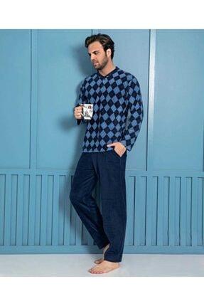 Sude Homewear Plr-p-02 Erkek Lacivert Polar Pijama Takımı