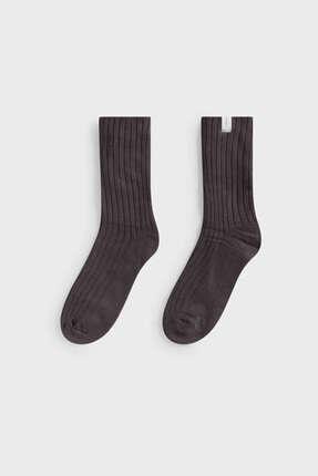 Oysho Kalın Fitilli Orta Boy Çorap