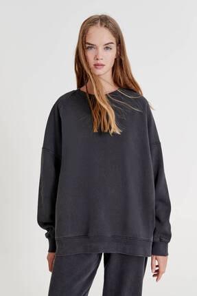 Pull & Bear Bisiklet Yaka Basic Sweatshirt
