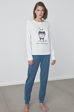 Penti Cozy Printed Termal Pijama Altı