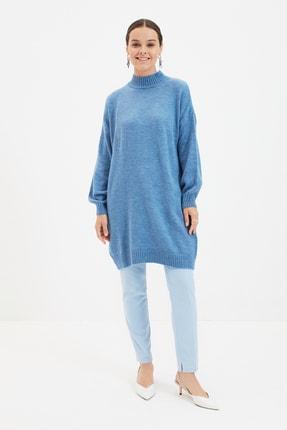 Trendyol Modest Mavi Basic Triko Kazak TCTAW22AK0048