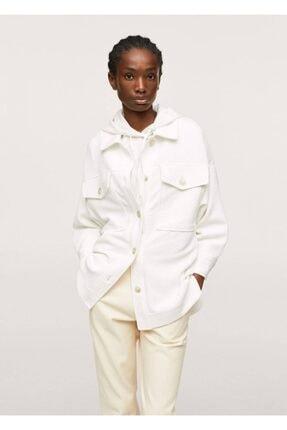 MANGO Woman Dokuma Gömlek Ceket