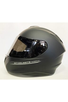 MT Kask Targo Mat Siyah Renk A1 Renkli Vizörlü ( Smoke )