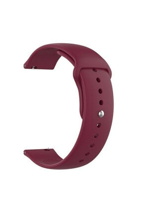 Gpack Google Ticwatch S2 Wear Os Uyumlu  Kordon Klasik Silikon Krd 11 Mürdüm