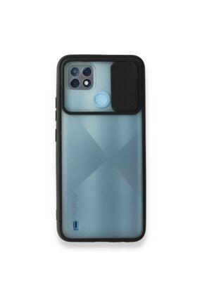 Oppo Realme C21 Palm Lensi Sürgülü Slide Şok Ve Darbelere Karşı Korumalı Silikon Kılıf