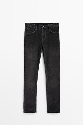 Massimo Dutti Slim Fit Denim Görünümlü Fitilli Kadife Pantolon