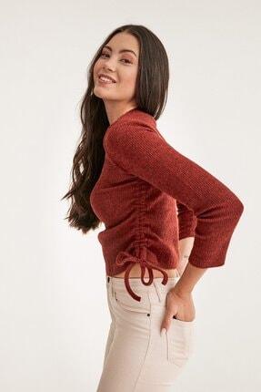Fulla Moda Yanı Büzgülü Fitilli Bluz