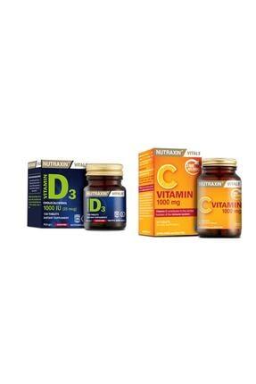 Nutraxin Vitamin D3 1000 120 Tablet & C Vitamini 1000 Mg 30tablet