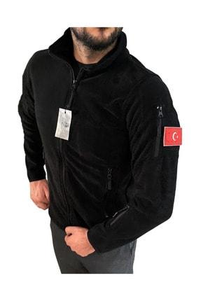 Silyon Askeri Giyim Taktik Polar Mont 5 Cepli Askeri Tip Tactical Polar Mont Siyah Renk