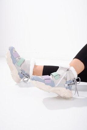 Tinka Bell Shoes 6540 Kadın Bot Mavi Lila Multi