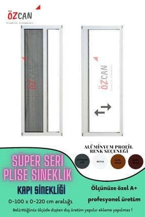 ÖZCANLAR CAM Plise Pileli Sürgülü Sineklik Kapı Sinekliği 0 100 En X 0 210 Boy