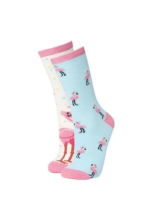 DeFacto Kadın Eğlenceli 2'li Uzun Çorap