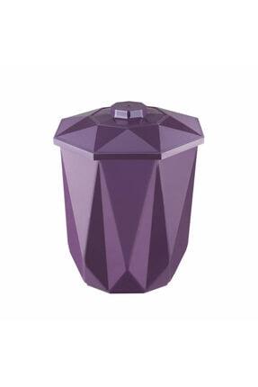 Kaya Store Kristal Desenli 5 Litre Kapaklı Çöp Kovası