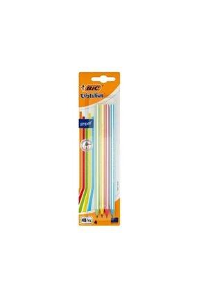 Bic Evolution Stripes Kurşun Kalem 4`lü - Pastel