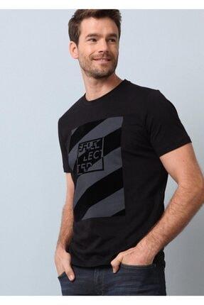 Ramsey Erkek Siyah Baskılı Örme T - Shirt
