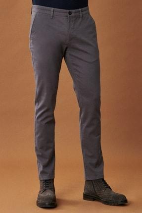 AC&Co / Altınyıldız Classics Erkek Antrasit Kanvas Slim Fit Dar Kesim Yan Cep Chino Pantolon