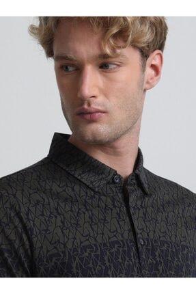Kip Desenli Örme T - Shirt