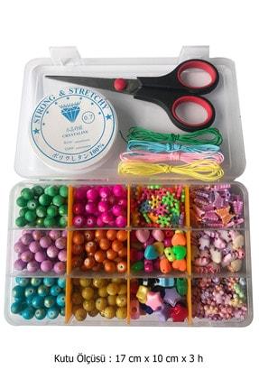 By MO Accessories Çocuklar Için Boncukla Takı Yapma Seti -hobi Boncuk Yapımı -bileklik Yapma Seti -eğlence Seti