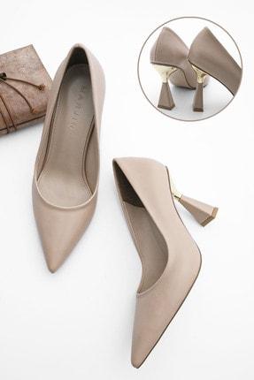 Marjin Kadın Stiletto Topuklu Ayakkabı Estorbej