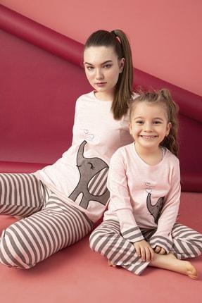 ELİTOL Anne-kız Pamuklu Likralı Pijama Takım