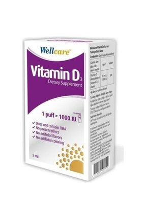 Wellcare Vitamin D3 1000 Iu 5 ml Sprey