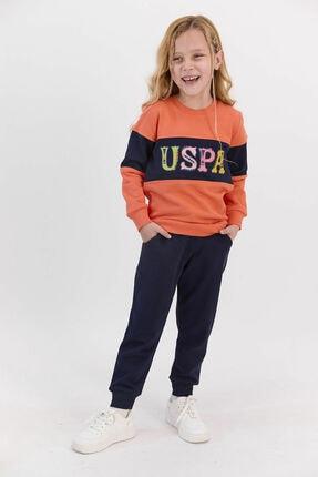U.S. Polo Assn. Kız Çocuk Turuncu Eşofman Takım