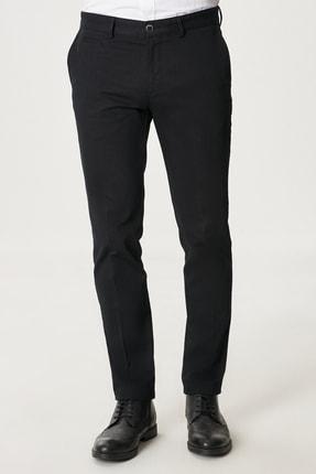 AC&Co / Altınyıldız Classics Erkek Siyah Slim Fit Dar Kesim Yan Cep Casual Pantolon