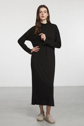 Penyemood Siyah Biye Detaylı Örme Elbise