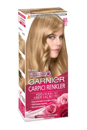 Garnier Color Naturals Çarpıcı Renkler 8.0 Parlak Koyu Sarı