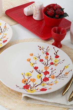 Keramika Sonbahar Tomurcuk Kahvaltı Takımı  28 Parça 6 Kişilik