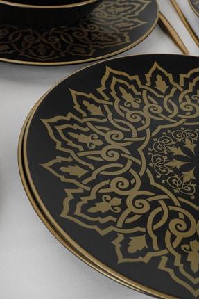 Keramika Topkapı Mat Siyah Yemek Takımı 24 Parça 6 Kişilik