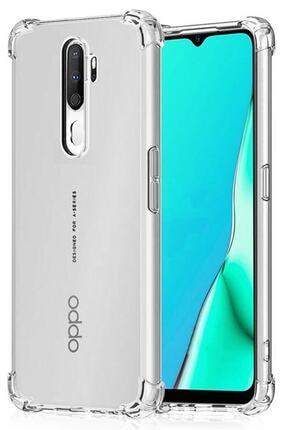 Oppo A5 2020 Kılıf Darbelere Dayanıklı Sert Silikon Şeffaf