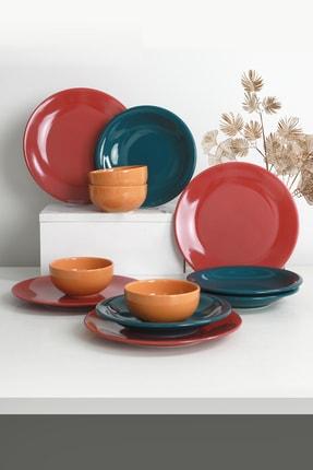 Keramika Ege Rainbow Yemek Takımı 12 Parça 4 Kişilik