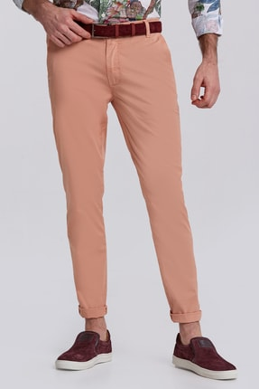 Hemington Somon Rengi Pamuk Yazlık Chino Pantolon