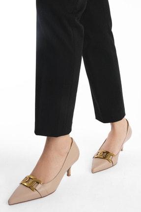 Marjin Kadın Stiletto Topuklu Ayakkabı LetyaBej