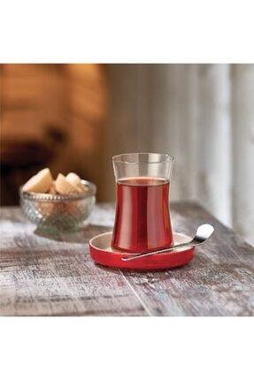 Koleksiyon1 Istanbul Tiryaki Kırmızı Çay Bardağı Seti 6 Lı
