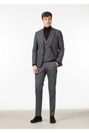Ramsey Kareli Dokuma Yelekli Takım Elbise - RP10110700