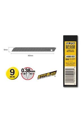 Olfa ABB-50 Ekstra Keskin Black Seri Dar Maket Bıçağı Yedeği 50'li Tüp 5675146