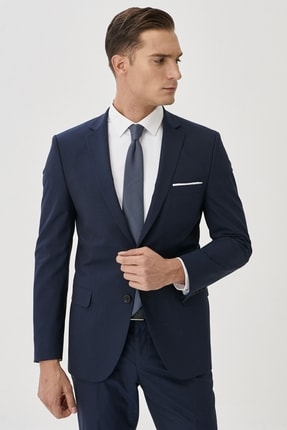ALTINYILDIZ CLASSICS Erkek Lacivert Slim Fit Takım Elbise