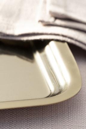 English Home Shiny Metal Tepsi 22x16 Cm Gold