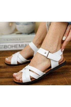 GÜNBEY AYAKKABI Kadın Sandalet Beyaz