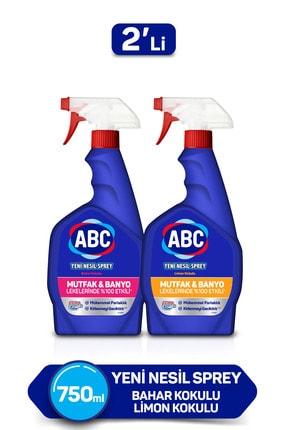 ABC Yeni Nesil Sprey Banyo&mutfak 750 Ml X 2 - Bahar Tutkusu&limon