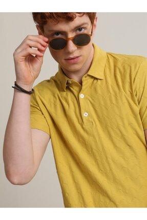 Kip Erkek Limon Küfü Jakarlı Örme T - Shirt