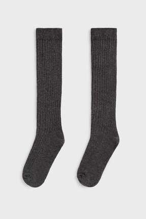 Oysho Fitilli Pamuklu Uzun Çorap