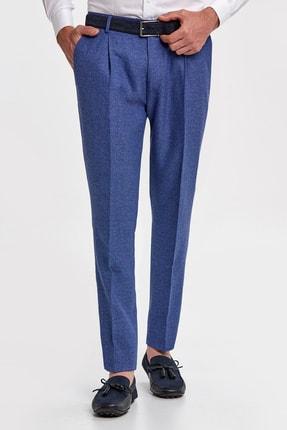 Hemington Koyu Mavi Keten Dokuma Pantolon